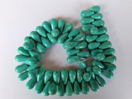 Howliet druppel kraal turquoise 21-21.5x12 mm