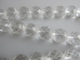 Bergkristal facet kraal rond 9.5-9.7 mm A-kwaliteit