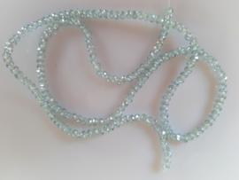 Kristalglas kraal helder lichtgrijs rondel  2x2.6-2.8 mm