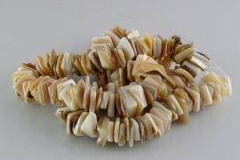 Parelmoer kraal plakje 7-12 mm
