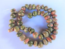 Unakiet getrommelde steen kraal 7-9x11-14 mm