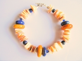 """Armband """"Nature with Yellow and Blue"""""""