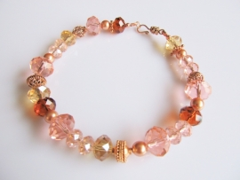 "Armband ""Rose Gold Crystal"""