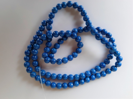 Howliet ronde kraal kobaltblauw  8-8.3 mm