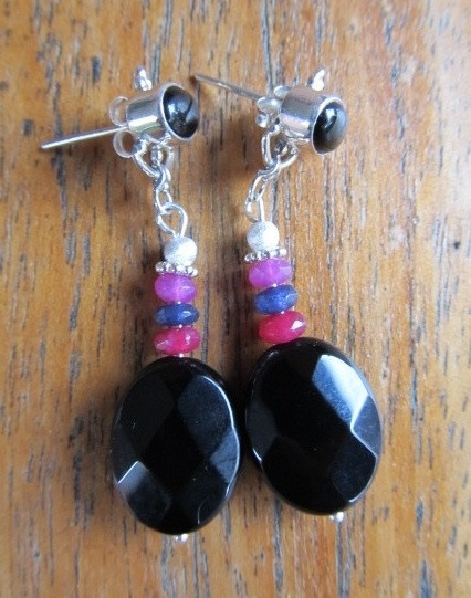 """Oorbellen  """"Onyx With Colour"""""""