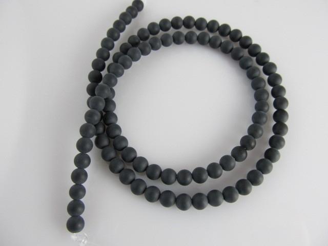 Onyx kraal mat rond 4-4.5 mm