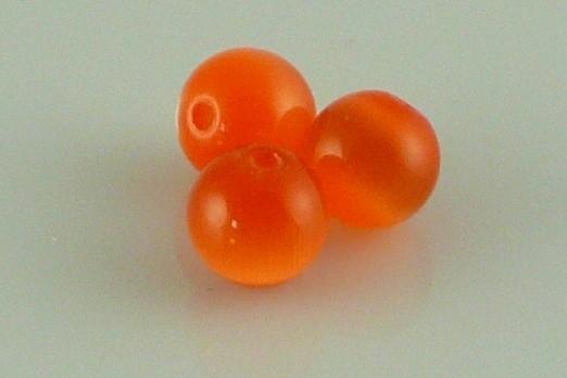 Cateye kraal oranje 8 mm