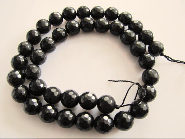 Obsidiaan kraal regenboog microfacet rond 10 mm