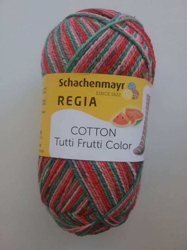 Regia Cotton Tutti Frutti Color ~ meloen - 2421