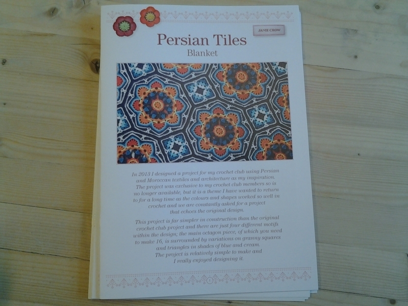 Patroonblad Persian Tiles Blanket ~ Nederlands