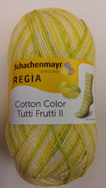 Regia Cotton Tutti Frutti Color ll -limoen  - 2424