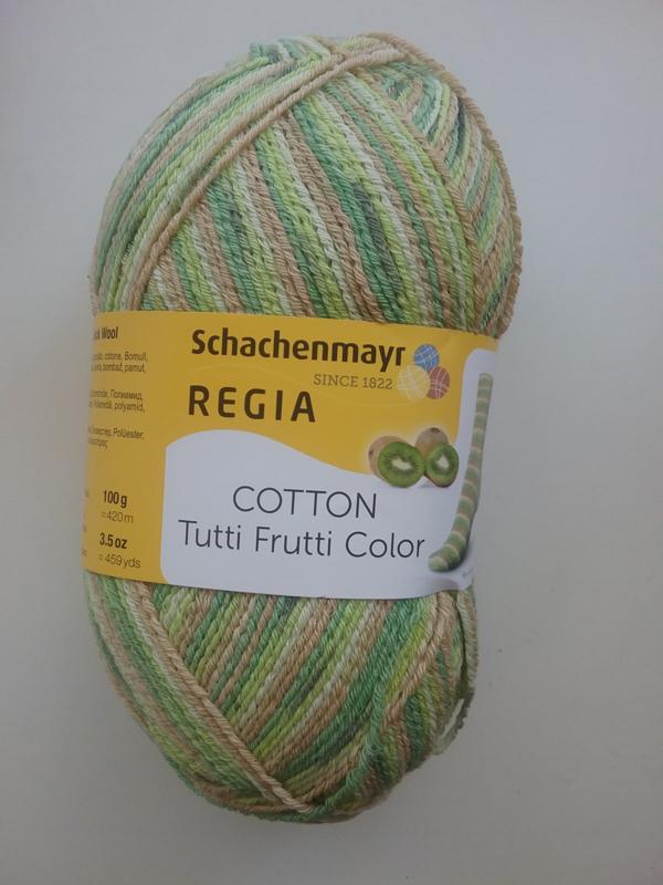 Regia Cotton Tutti Frutti Color  kiwi - 2418