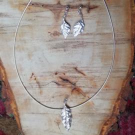 Silver pendant oak - Zilveren hanger eik (Ha 13 bis)