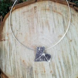 Silver pendant hedera - Zilveren hanger klimop (Ha6)