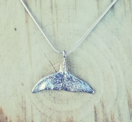 Pendant silver whale tail - hanger zilveren walvisstaart