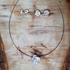 Silver earrings flowers - Zilveren oorbellen (Z20)