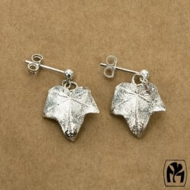 Silver earrings hedera - Zilveren oorbellen klimop (K2)