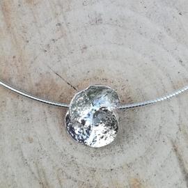 Silver pendant ceropegia - Zilveren hanger ceropegia (Ha 10)