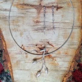Silver pendant alder - Zilveren hanger els (Ha 16)