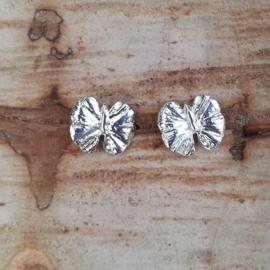 Silver earrings ginkgo butterflys - Zilveren oorbellen ginkgo vlindertjes