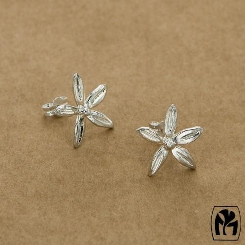 Silver earrings flowers - ZIlveren oorbellen bloemen(Z2)