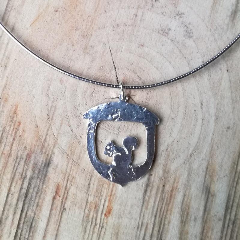Silver pendant squirrel - Zilveren hanger eekhoorn