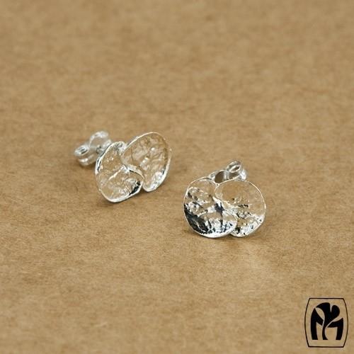 Silver earrings ceropegia - Zilveren oorbellen ceropegia(C1)