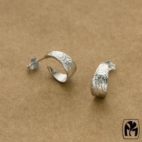 Silver earrings Hoops - zilveren oorbellen hoepeltjes(D6)