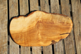 olijfhouten borrel/tapas plank 33 cm x 20 cm Nr15
