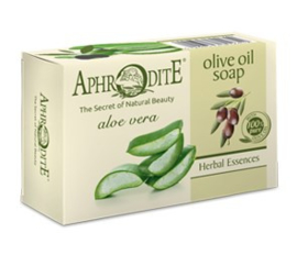Aphrodite pure olijfolie zeep met aloe vera,100g
