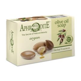 Aphrodite zeep op basis van  100 % pure olijfolie en argan olie, geen parabenen