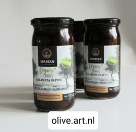 handgeplukte biologische kalamata olijven