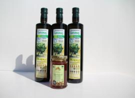 Aanbieding:T/M 15-09-2019  3 flessen 750ml Latzimas biologische olijfolie extra vierge&Kretenzische biologische honing van thymbloemen en wilde kruiden 300g
