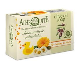 Aphrodite pure olijfolie zeep met kamille en calendula,100g