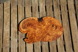 olijfhouten borrel/tapas plank  30 cm x 20 cm