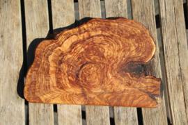 olijfhouten borrel/tapas plank 33 cm x 20 cm Nr3