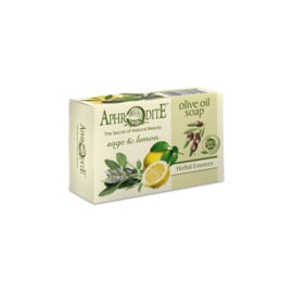 Aphrodite zeep op basis van 100% pure olijfolie, salie en citroen, geen parabenen