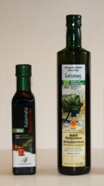 T/M 30-04-2020 Latzimas extra vierge biologische olijfolie 750ml&Biologische balsamico kalamata azijn, 250 ml