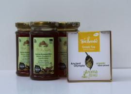 T/M 15-12-19 3xKretenzische biologische honing van thymbloemen en wilde kruiden+Biologische Griekse berg thee