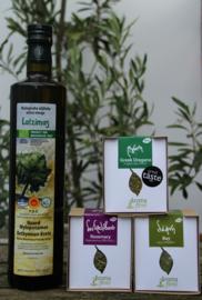 T/M 30-11-2019 Latzimas extra vierge biologische olijfolie 750ml&Biologische geteelde oregano&Biologische laurier&Biologische rozemarijn