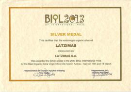 3 flessen 250 ml Latzimas biologische olijfolie extra vierge