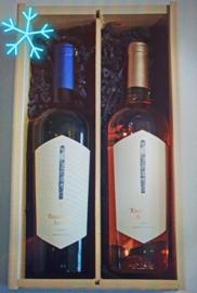Griekse wijnduo wit en rose