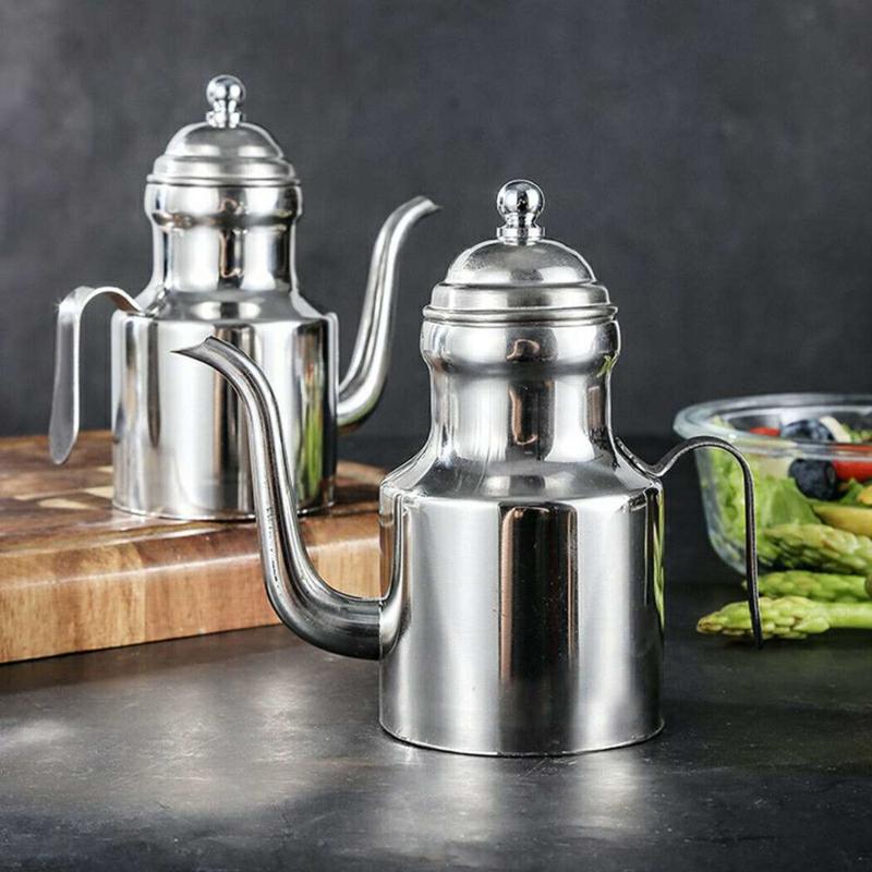 Roestvrij Staal  310ml perfect voor het bewaren van olijfolie.