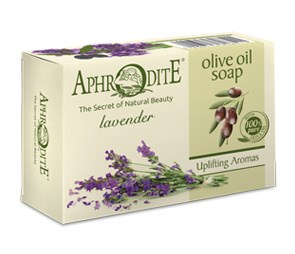 Aphrodite 100% natuurlijke olijfolie zeep met lavendel