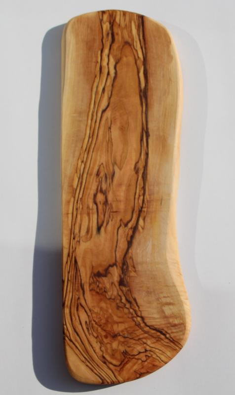 olijfhouten borrel/tapas plank 52x16cm Nr12