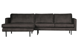 BePureHome - Rodeo chaise longue links zwart