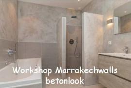 Workshop - Marrakechwalls betonlook