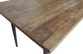 BePureHome - Guild tafel naturel met zwart onderstel 180x90