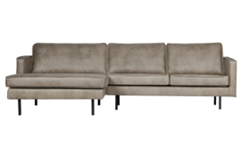 BePureHome - Rodeo chaise longue links elephant skin