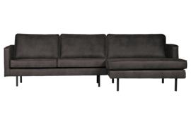BePureHome - Rodeo chaise longue rechts zwart